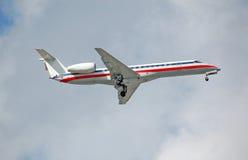 145 embraer地区erj的喷气机 图库摄影