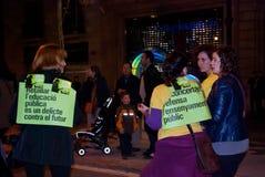 14N γενική ευρωπαϊκή απεργία Στοκ φωτογραφίες με δικαίωμα ελεύθερης χρήσης