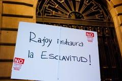 14N Europejczyka Ogólny Strajk Zdjęcie Stock