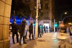 14N General European Strike. BARCELONA, SPAIN. NOVEMBER 14TH: Unidentified policemen at the European General Strike on 14/November/2012 in Barcelona Spain Stock Photo