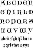 14th Century medieval alphabet Stock Photo