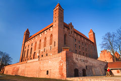 14th century Teutonic castle in Gniew. Poland stock images