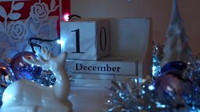 Free 14th December Date Blocks Advent Calendar Royalty Free Stock Photos - 106024228