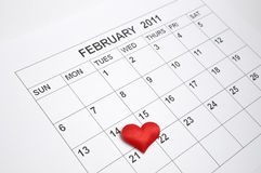 14th of February 2011 Stock Photo