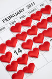 14th of February 2011 Stock Photos