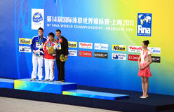 14th fina world championships - shanghai 2011 Royalty Free Stock Photos
