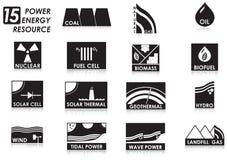 15个能源图标 免版税图库摄影