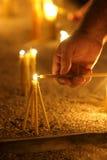 15个蜡烛 库存照片