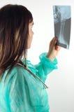 15位医生女性光芒x 库存照片