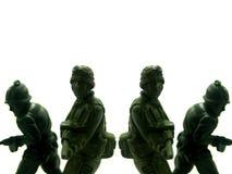 15位战士玩具 图库摄影