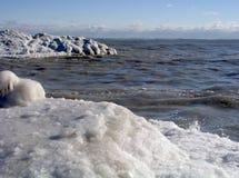15冰冷的岸 库存图片