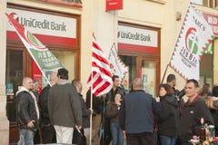 15布达佩斯极其行军右派分子罢工 图库摄影