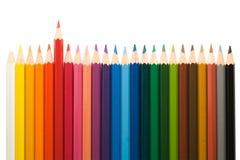 15支颜色铅笔 免版税库存图片