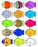 15条鱼 免版税库存图片