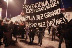 15.0 Occupez Zagreb Photographie stock libre de droits