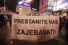 15.0 Occupi Zagabria Fotografie Stock Libere da Diritti