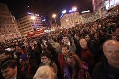15.0 Occupi Zagabria Fotografia Stock Libera da Diritti