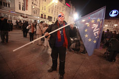 15.0 Occupy Zagreb Royalty Free Stock Photography