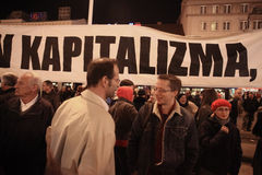 15.0 Occupy Zagreb Royalty Free Stock Photo