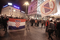15.0 Ocupe Zagreb Fotografía de archivo