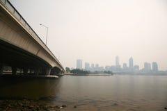 15 2009报道了12月阴霾珀斯 图库摄影