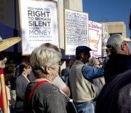 15 2011 oktober ows protesterar den breda världen för USA Royaltyfri Fotografi