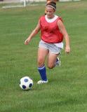 15个活动足球青少年的青年时期 库存照片
