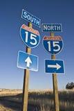 15 autostrad znak Fotografia Royalty Free