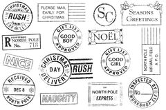 15 boże narodzenia ustawiających znaczków ilustracji