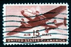 15 c pocztą lotniczą pieczęci, rocznik usa Obraz Royalty Free