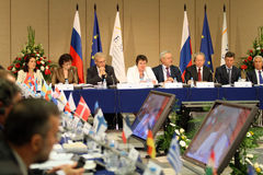 15 cemat会议莫斯科 免版税库存图片