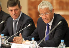 15 CEMAT Konferenz in Moskau. Lizenzfreies Stockfoto