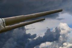 15 cm海军大炮 免版税库存图片
