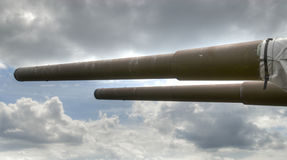 15 cm海军火炮 免版税图库摄影