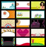 15 colorful business cards. Vector set. To see similar, please VISIT MY PORTFOLIO royalty free illustration