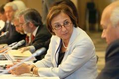 15 conferentie CEMAT in Moskou. Stock Afbeelding