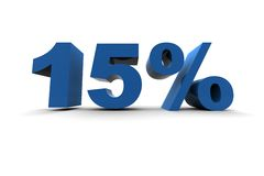 15% d'isolement Images stock