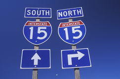15 du nord d'un état à un autre et sud Photographie stock