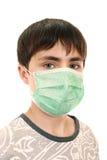 15 Einjahresjunge in der medizinischen Schablone Lizenzfreies Stockfoto