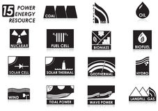 15 energy icon. 15 energy generate to electricity royalty free illustration