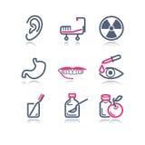 15 koloru konturowa ikon sieć Obrazy Royalty Free