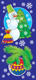 15 nowego roku ilustracja wektor