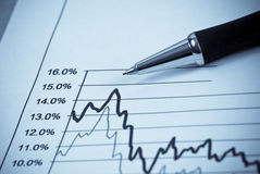 15 Percent Increase Rate. On Graph Stock Image