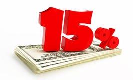 15 percenten Royalty-vrije Stock Afbeeldingen