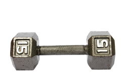 15 Pound Dumbbell Royalty Free Stock Photography
