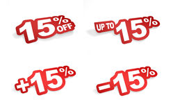 15 procentów promocja Fotografia Stock