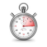 15 seconds. Stopwatch. Isolated stopwatch on white. Clipping path included. Computer generated image Royalty Free Stock Images