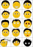15 sorrisi Immagine Stock Libera da Diritti