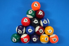 15 spot and stripes pool balls Stock Image