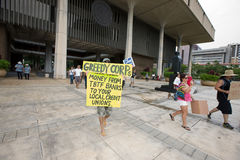 15 upptar anti apec honolulu protest Royaltyfria Bilder
